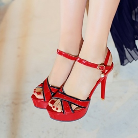 Ericdress Cross Strap Ankle Strap Stiletto Sandals