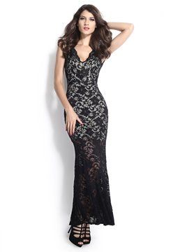 Ericdress Lace Mermaid Sheath Maxi Dress