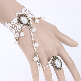 Ericdress Court White Bud Silk Bracelet