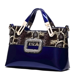 Ericdress Diamante Serpentine Patchwork Handbag