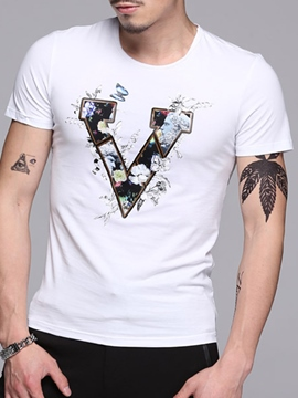 Ericdress Floral Printed Men's T-Shirt