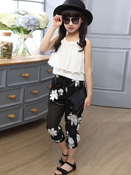 Ericdress Vintage Girls Pants Outfit