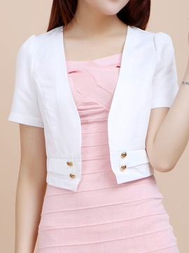 Ericdress Simple Short Blazer