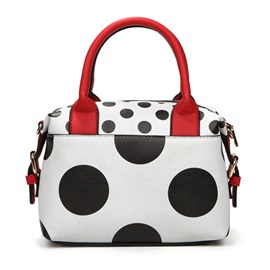 Ericdress Color Block Polka Dot Handbag