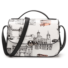 Ericdress Candy Color Graffiti Animal Print Handbag