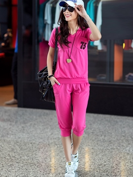 Ericdress Simple Fashion V-Neck Sports Suit