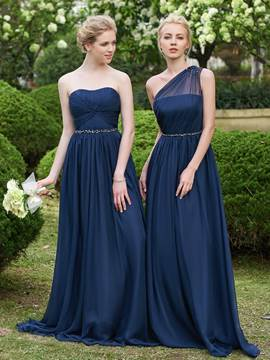 Ericdress High Quality One Shoulder Long Bridesmaid Dress