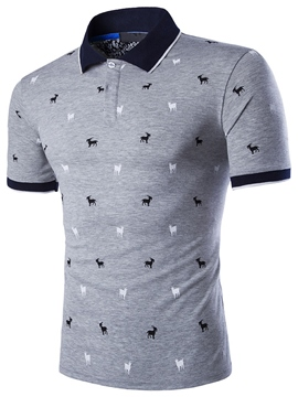Ericdress Short Sleeve Print Polo Men's T-Shirt