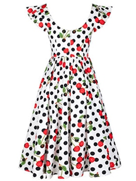 Ericdress U-Neck Polka Dots Sleeveless Casual Dress