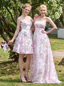 Ericdress Sweetheart Printed Long Bridesmaid Dress