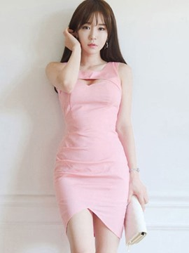 Ericdress Sexy Soild Color Bodycon Dress