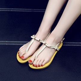Ericdress Pretty Bowtie Thong Flat Sandals