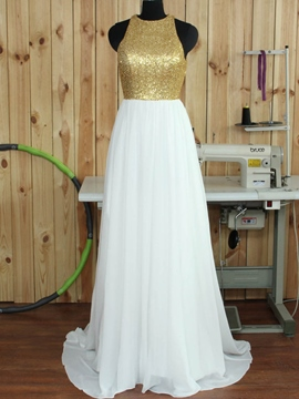 Ericdress Jewel A-Line Sequins Court Train Prom Dress