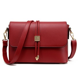 Ericdress Diamante Draw String Crossbody Bag