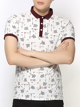 Ericdress Printed Polo Men's T-Shirt