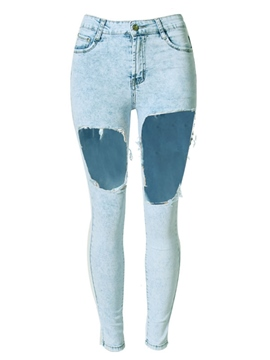 Ericdress Fashion Hole Jeans