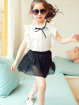 Ericdress Preppy Girls Skirt Outfit