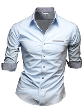 Ericdress Casual Slim Fit Men's Shirt