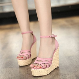 Ericdress Fashion Open Toe Wedge Sandals