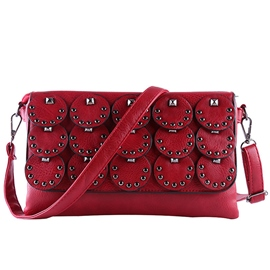 Ericdress Fishscale Rivets Patchwork Crossbody Bag