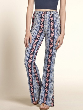Ericdress Casual Floral Print Pants