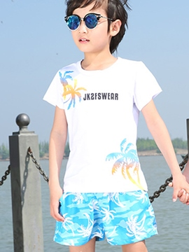 Ericdress Vacation Plant Printed Short Sleeve Boys Outfits