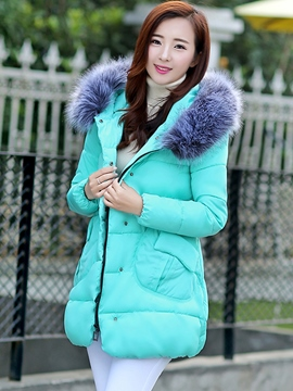 Ericdress Simple Solid Color Cotton Coat