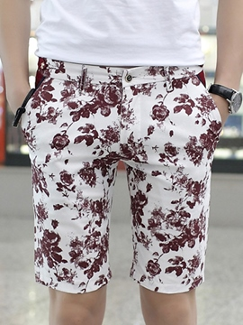 Ericdress Floral Casual Men's Shorts