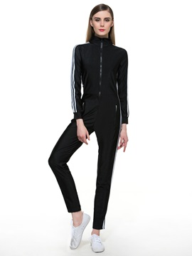 Ericrdess Stripe Sports Jumpsuits Pants