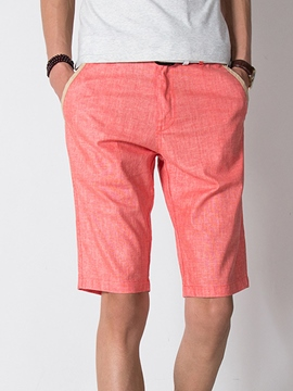 Ericdress Multi-Color Linen Half Leg Plus Size Casual Men's Shorts