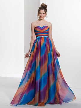 Ericdress A-Line Sweetheart Beading Sashes Long Prom Dress