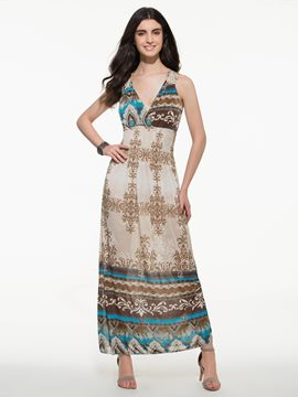 Ericdress Long Print Beach Dress