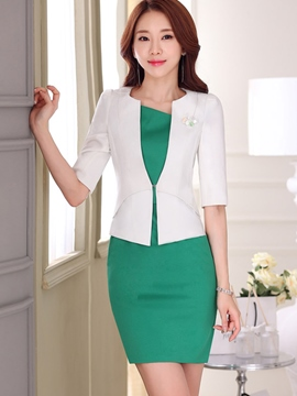 Ericdress OL Elegant Dress Suit