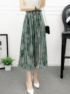 Ericdress Stripe Wide Leg Pants
