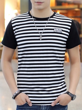 Ericdress Simple Stripe Casual Men's T-Shirt