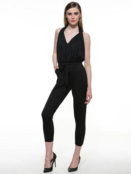 Ericdress Casual Halter Jumpsuits Pants