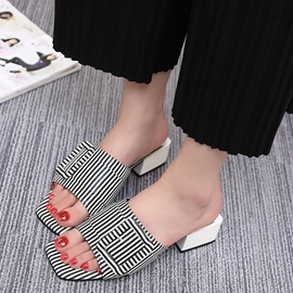 Ericdress Zebra Mules Shoes