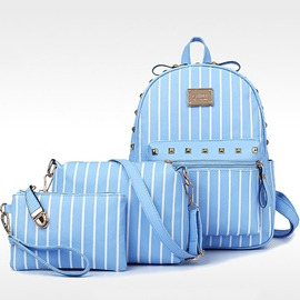 Ericdress Casual Multifunction Stripe Handbags(3 Bags)