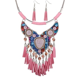 Retro Tassel Necklace Two-Piece Jewelry Set