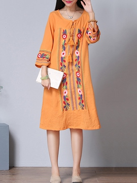 Ericdress Ethic Straight Print Casual Dress