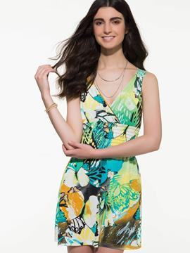 Ericdress Bohemian Style Butterfly Print Casual Dress