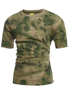 Ericdress Short Sleeve Camouflage Casual Men's T-Shirt