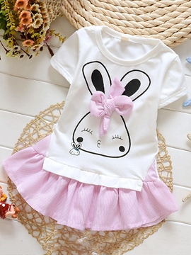 Ericdress Cartoon Short Sleeve Girls Dress
