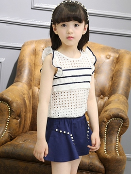 Ericdress Hollow Girls Skirt Outfit