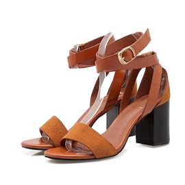 Ericdress Buckles Open Toe Chunky Sandals