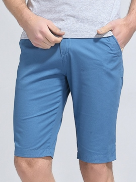 Ericdress Plain Plus Size Half Leg Men's Shorts