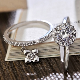 Warm Love Zircon Ring