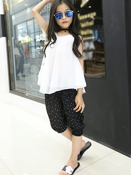 Ericdress Sleeveless Girls Pants Outfit