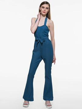 Ericdress Denim Flare Jumpsuits Pants