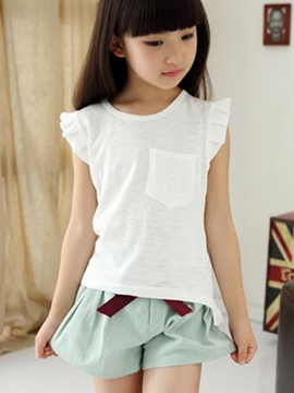 Ericdress Sweet Girls Shorts Outfit